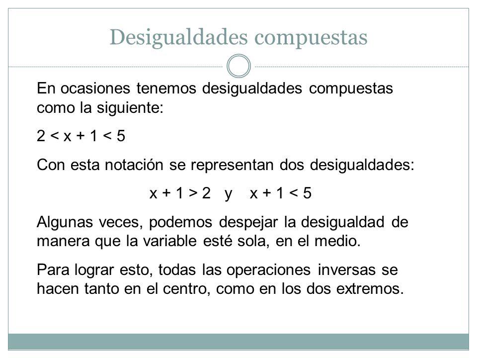 Desigualdades compuestas