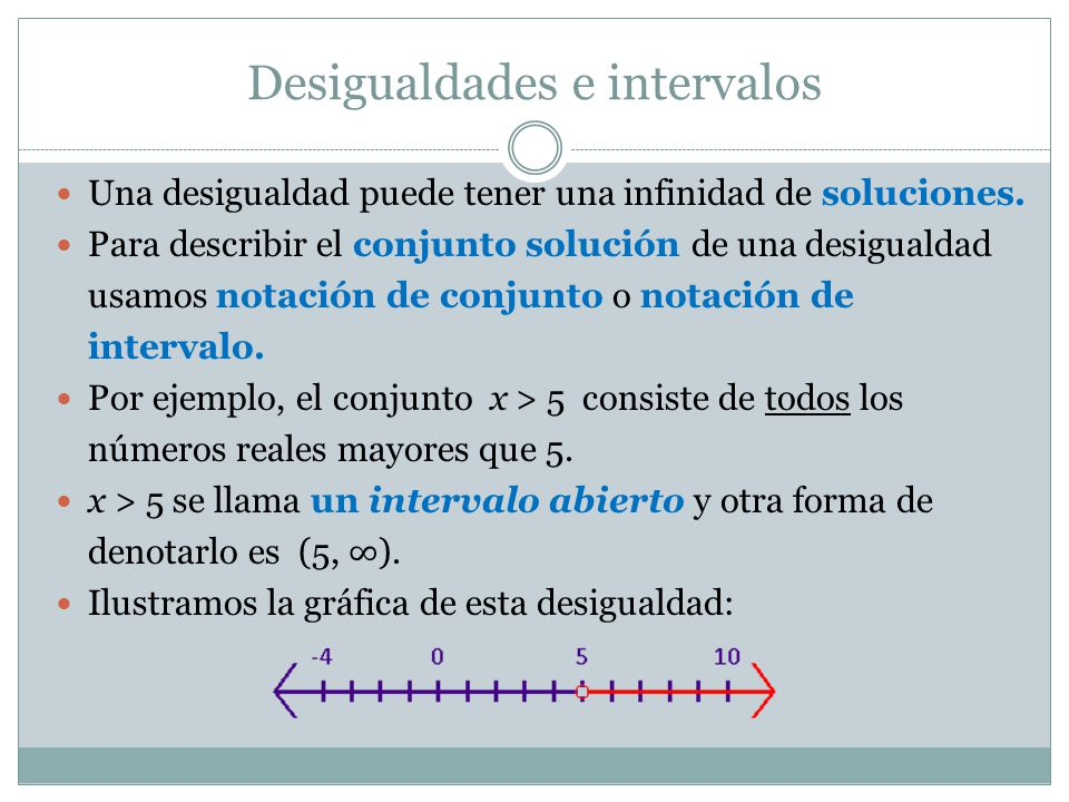 Desigualdades e intervalos