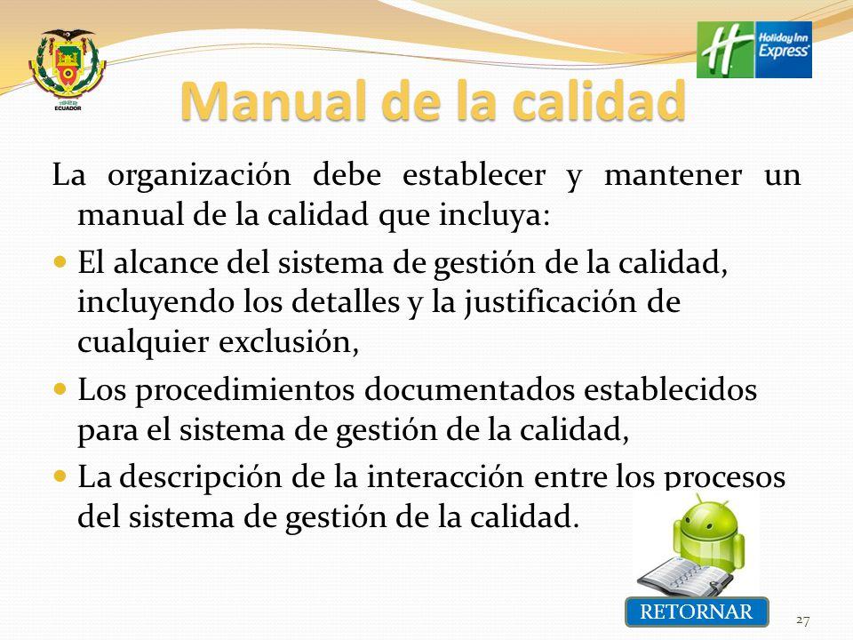 Maestria en gestion de la calidad y productividad ppt for Manual de procedimientos de alimentos y bebidas de un hotel