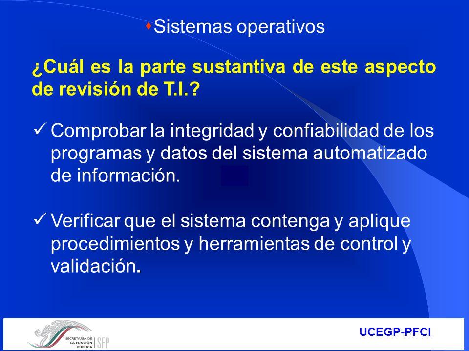 Sistemas operativos ¿Cuál es la parte sustantiva de este aspecto de revisión de T.I.