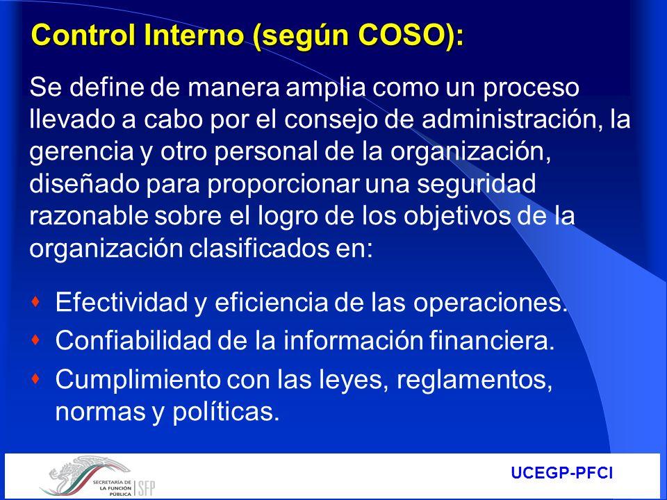 Control Interno (según COSO):