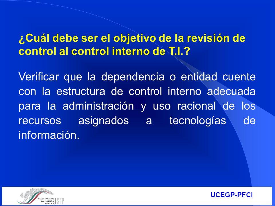 ¿Cuál debe ser el objetivo de la revisión de control al control interno de T.I.