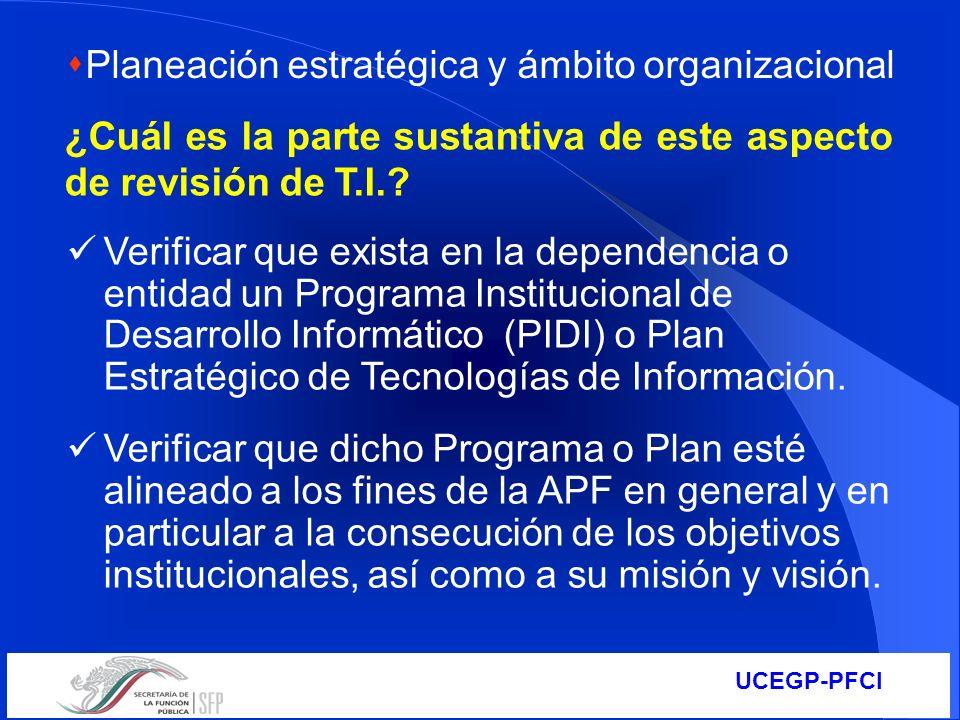 Planeación estratégica y ámbito organizacional