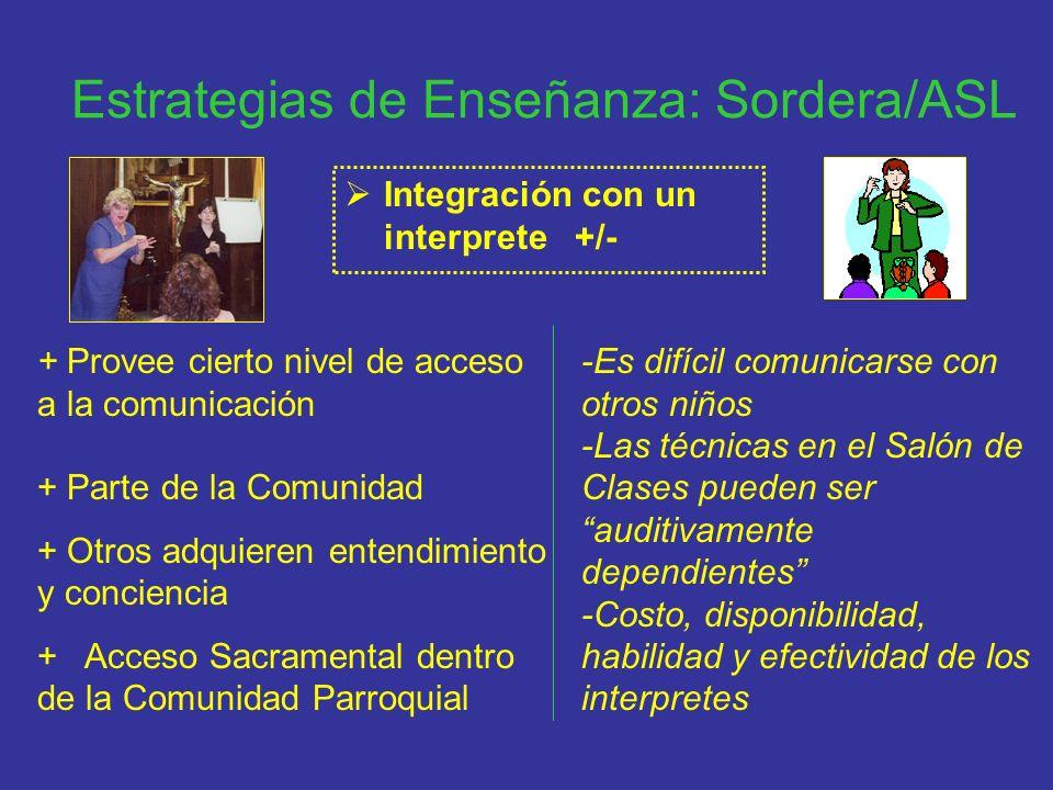 Estrategias de Enseñanza: Sordera/ASL