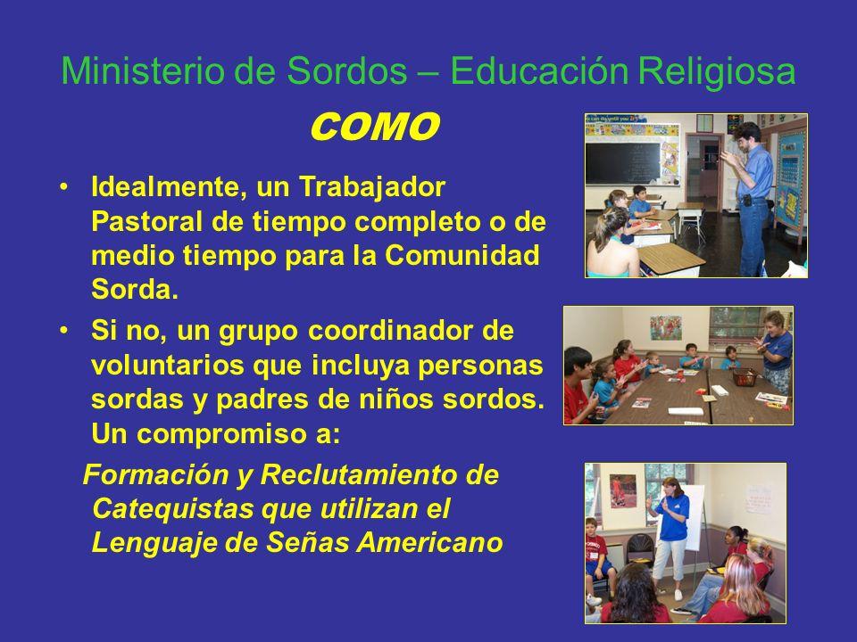 Ministerio de Sordos – Educación Religiosa