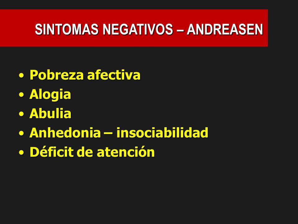 SINTOMAS NEGATIVOS – ANDREASEN