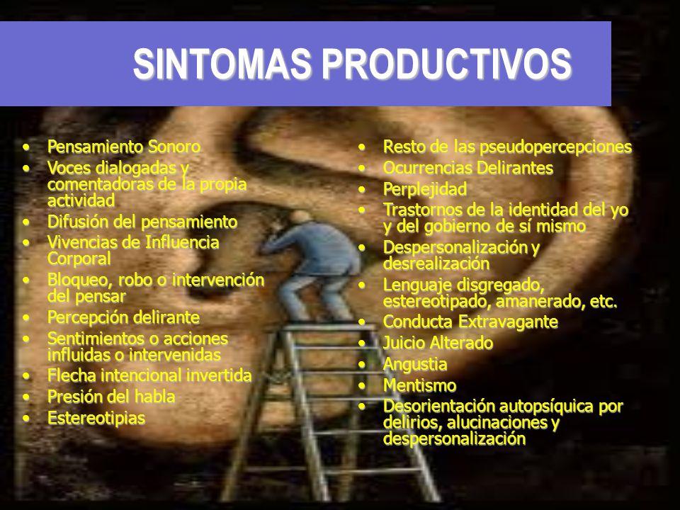 SINTOMAS PRODUCTIVOS Pensamiento Sonoro