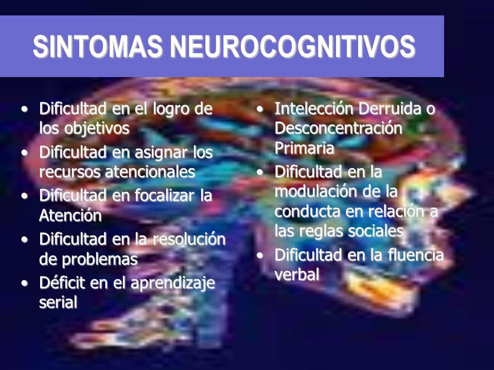 SINTOMAS NEUROCOGNITIVOS