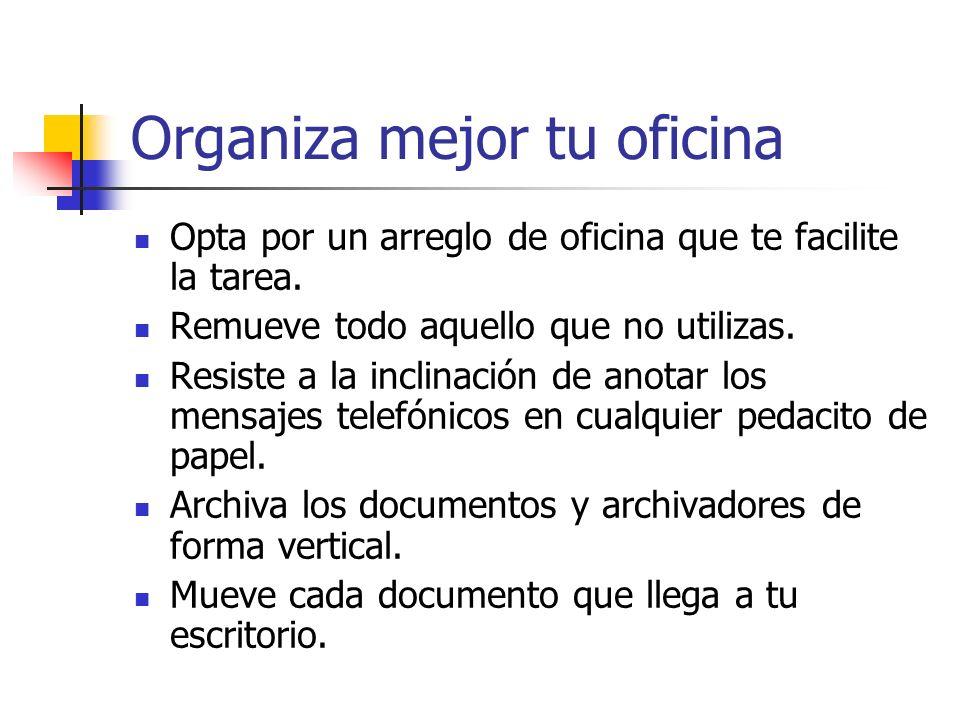 Organiza mejor tu oficina
