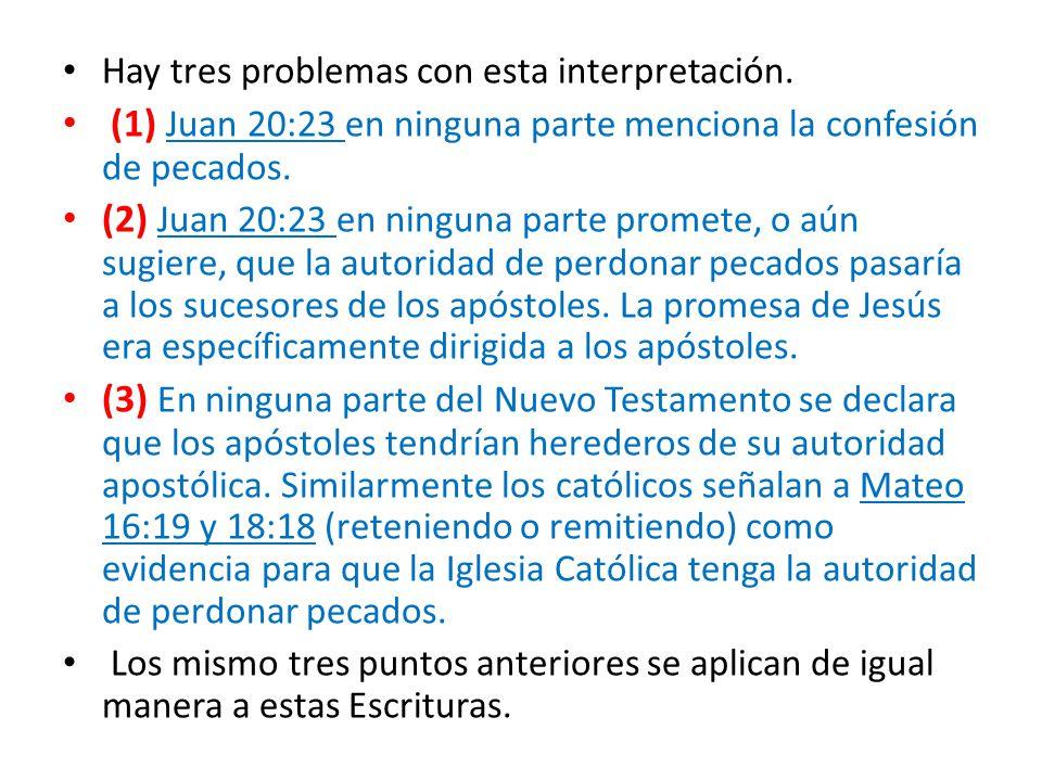 (1) Juan 20:23 en ninguna parte menciona la confesión de pecados.
