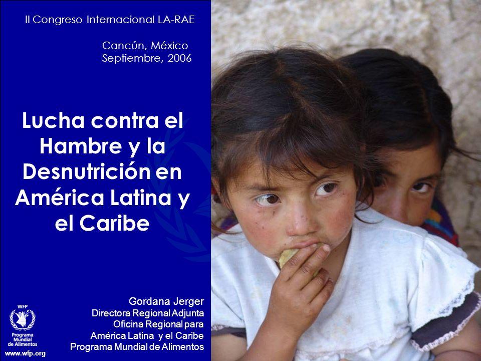 Lucha contra el Hambre y la Desnutrición en América Latina y el Caribe