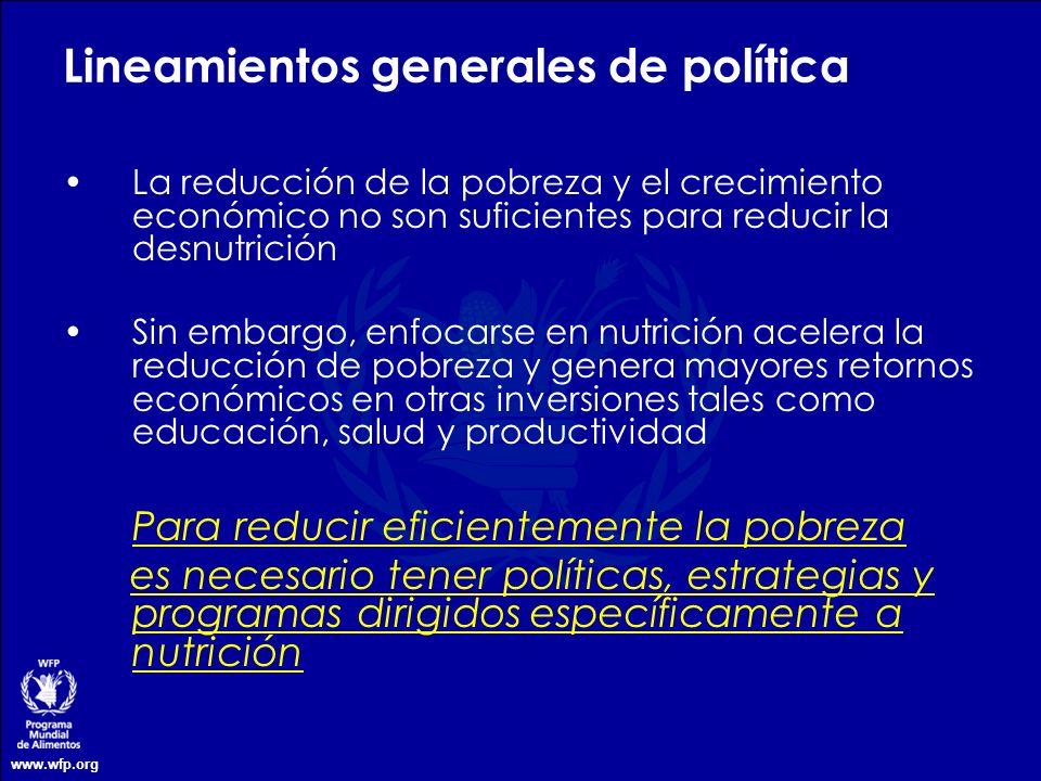 Lineamientos generales de política