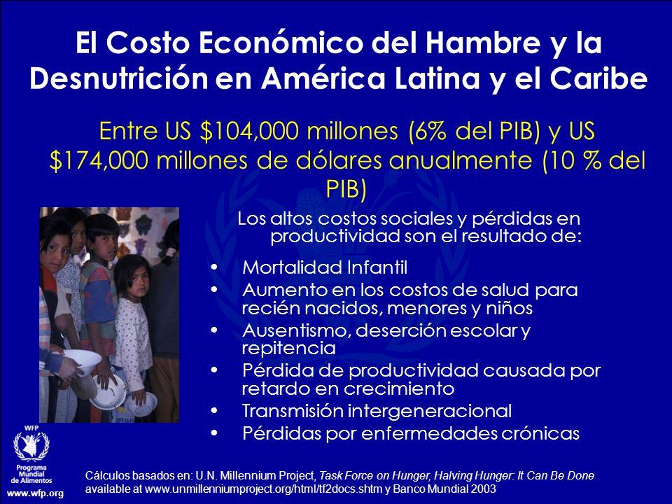 El Costo Económico del Hambre y la Desnutrición en América Latina y el Caribe