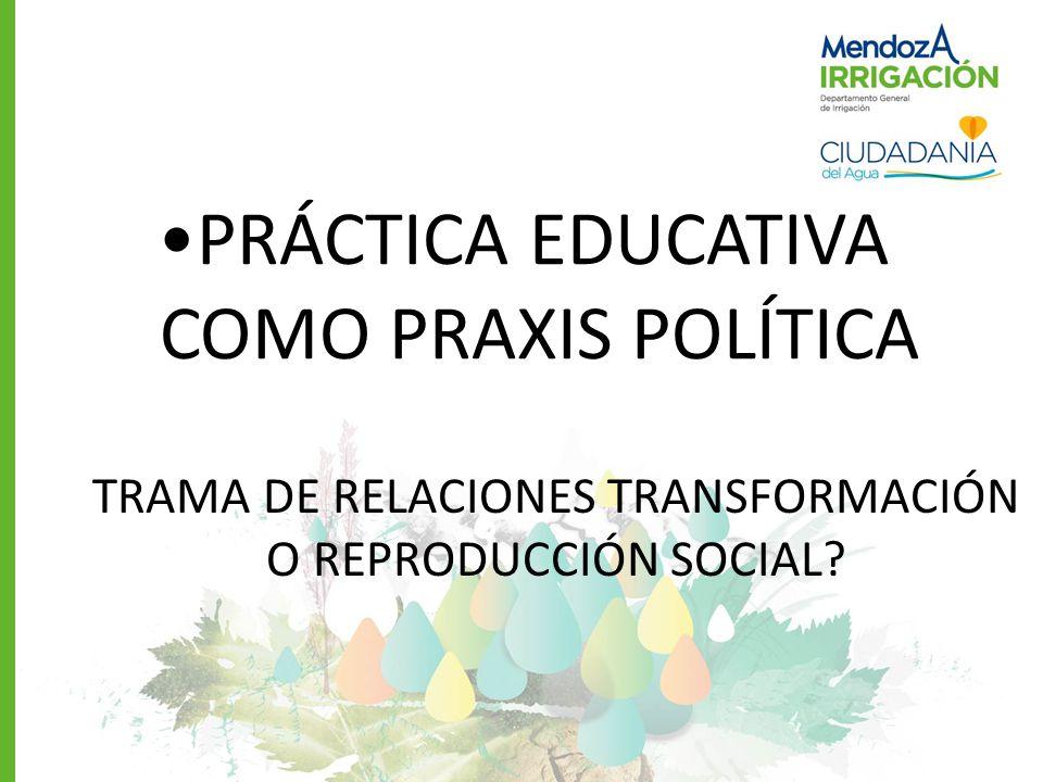 PRÁCTICA EDUCATIVA COMO PRAXIS POLÍTICA