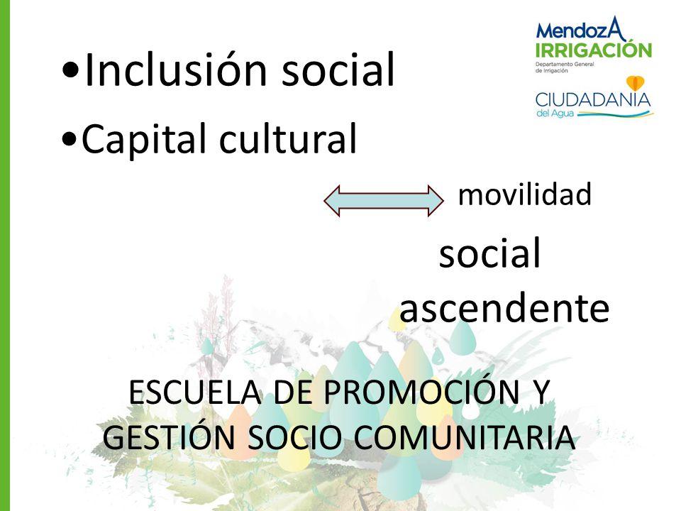 ESCUELA DE PROMOCIÓN Y GESTIÓN SOCIO COMUNITARIA
