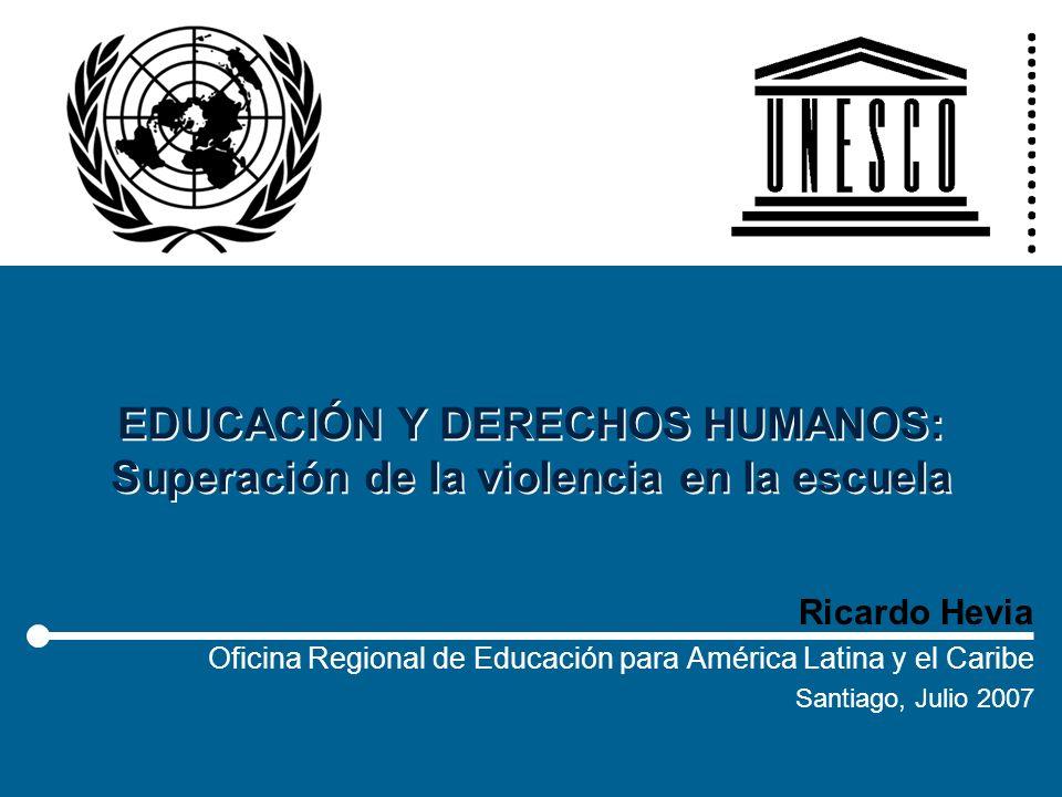 EDUCACIÓN Y DERECHOS HUMANOS: Superación de la violencia en la escuela