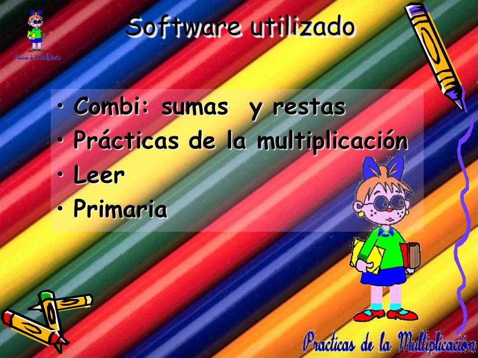 Software utilizado Combi: sumas y restas