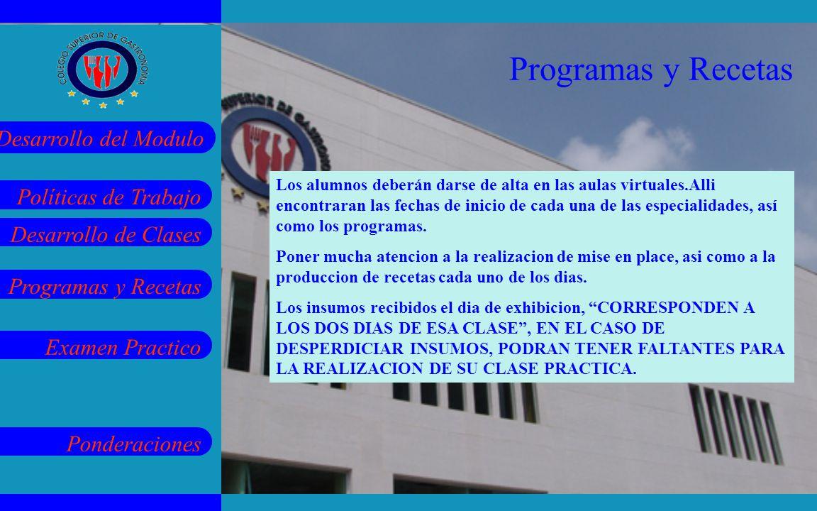 Programas y Recetas