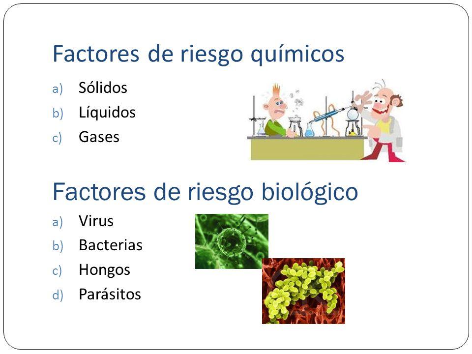 Factores de riesgo químicos