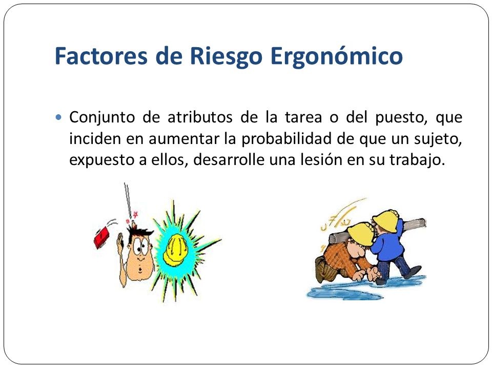 Factores de Riesgo Ergonómico