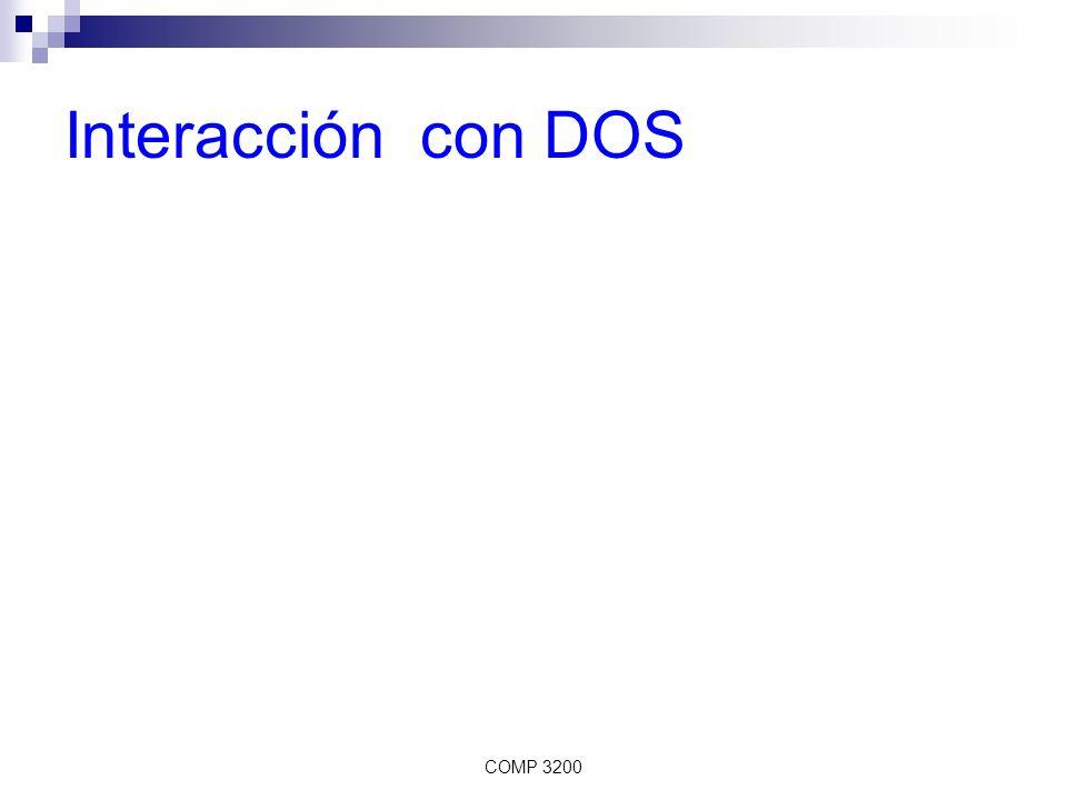 Interacción con DOS COMP 3200