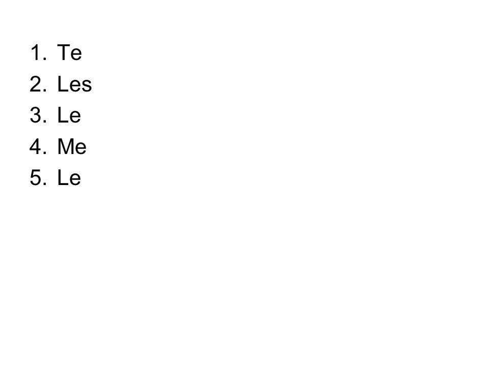 Te Les Le Me