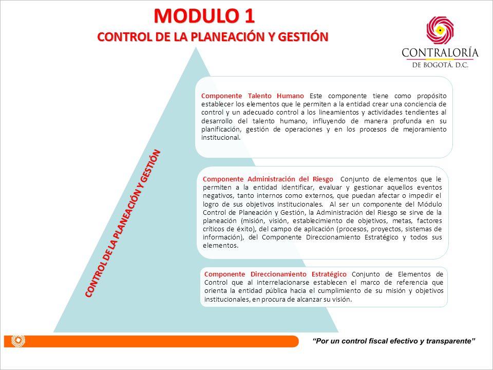 CONTROL DE LA PLANEACIÓN Y GESTIÓN CONTROL DE LA PLANEACIÓN Y GESTIÓN