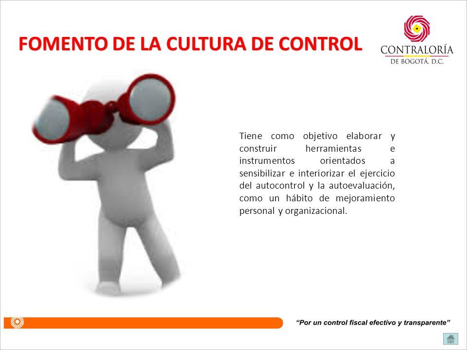 FOMENTO DE LA CULTURA DE CONTROL