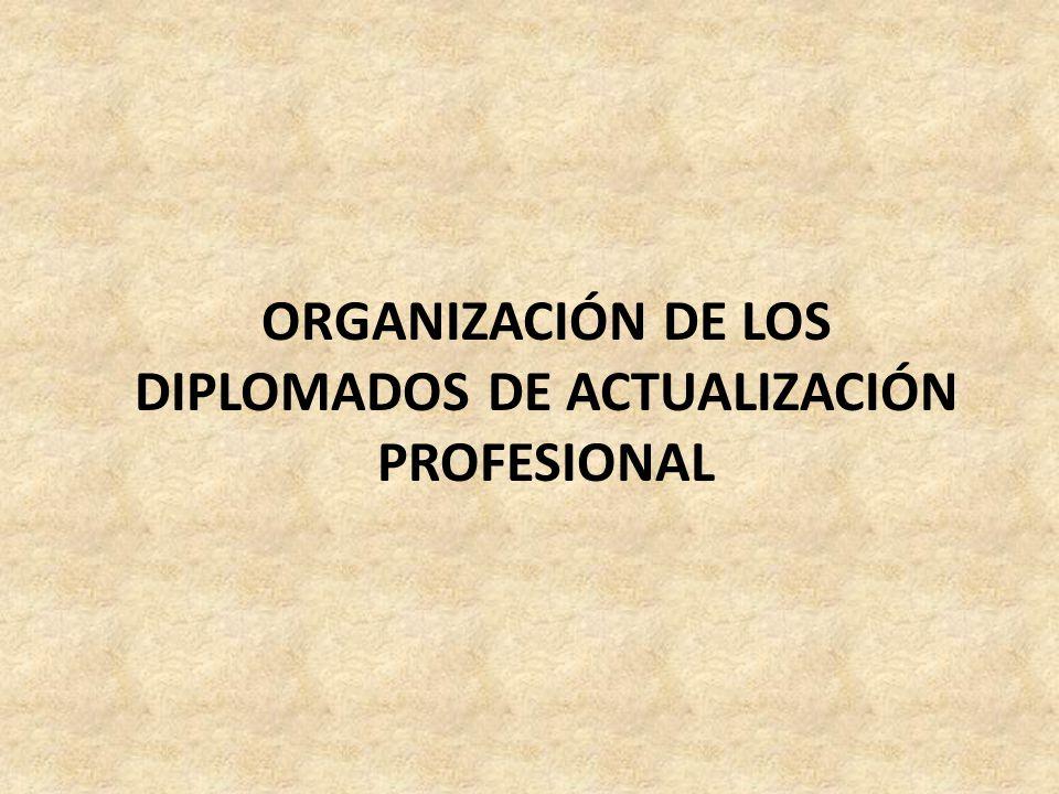 ORGANIZACIÓN DE LOS DIPLOMADOS DE ACTUALIZACIÓN PROFESIONAL