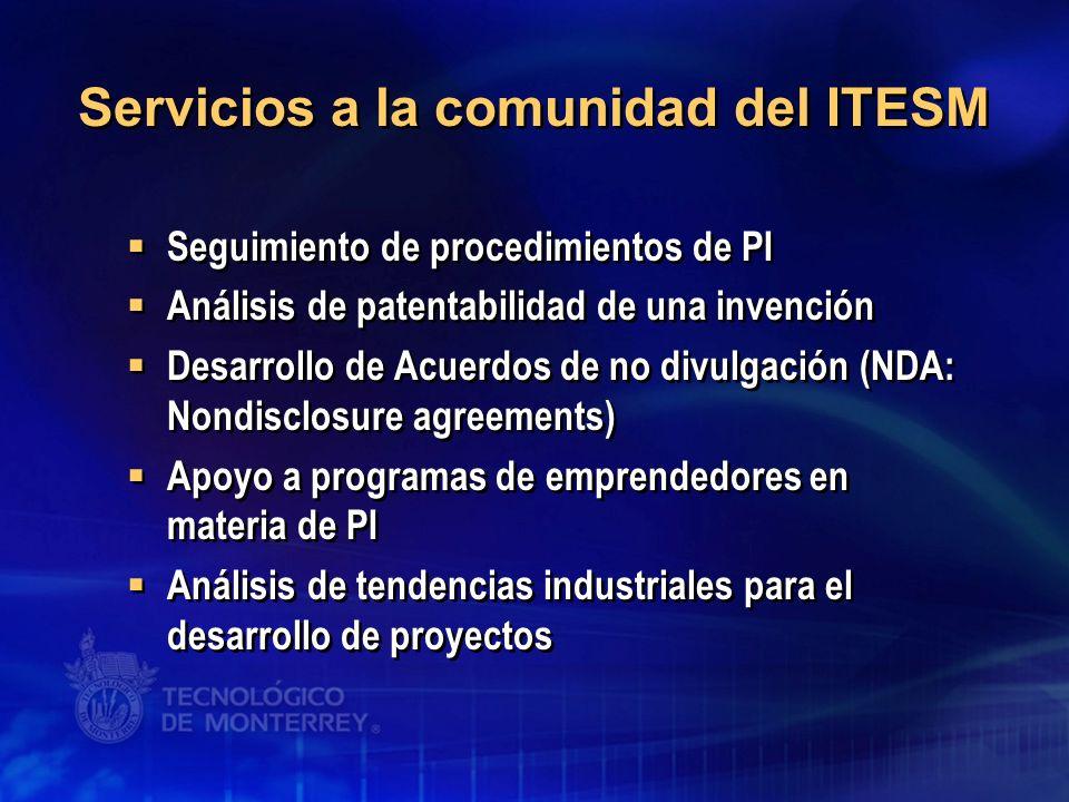 Servicios a la comunidad del ITESM