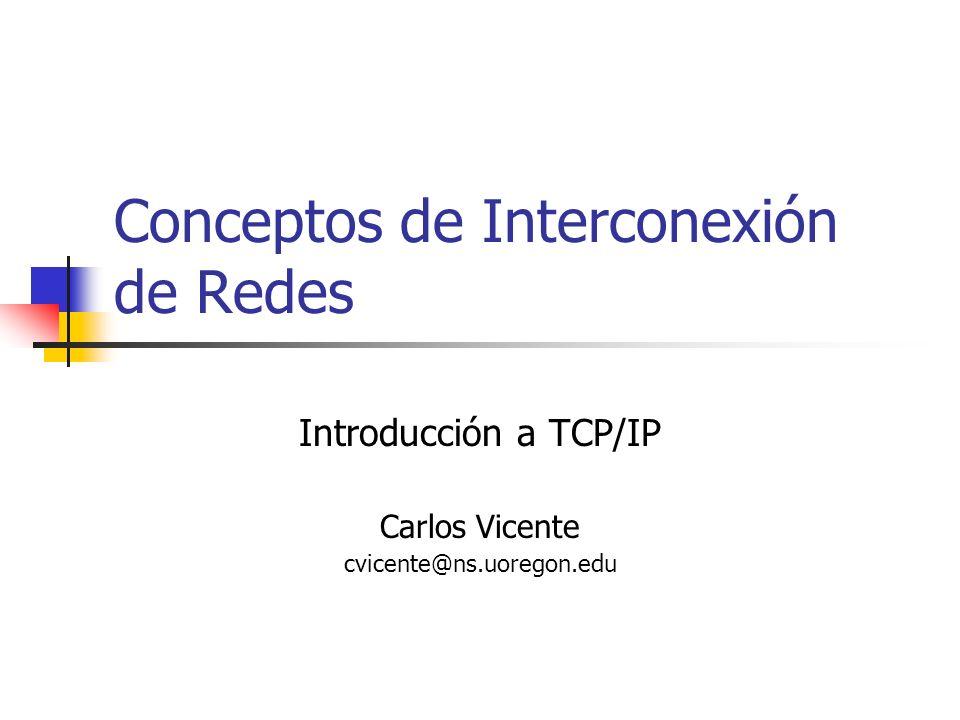 Conceptos de Interconexión de Redes
