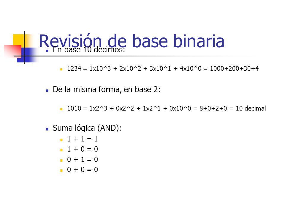 Revisión de base binaria