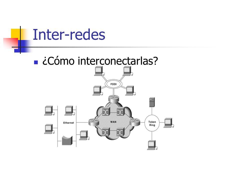 Inter-redes ¿Cómo interconectarlas