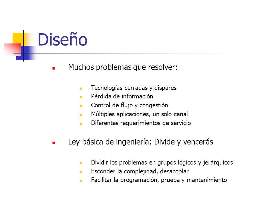 Diseño Muchos problemas que resolver:
