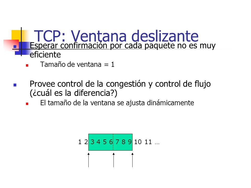 TCP: Ventana deslizante