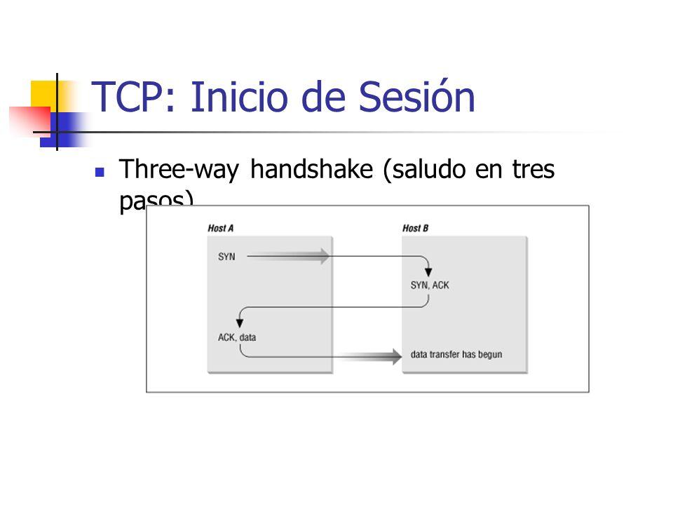 TCP: Inicio de Sesión Three-way handshake (saludo en tres pasos)