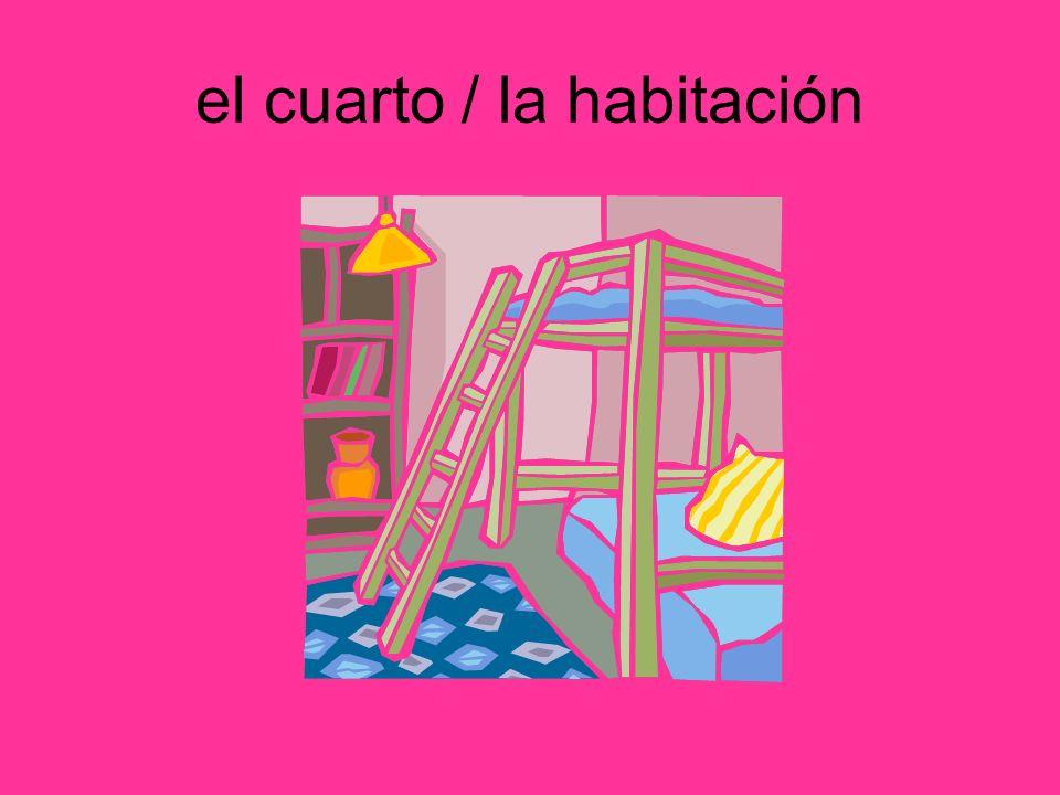 el cuarto / la habitación