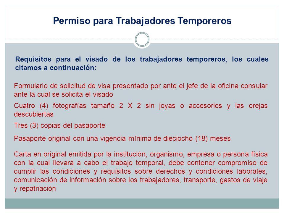 Permiso para Trabajadores Temporeros