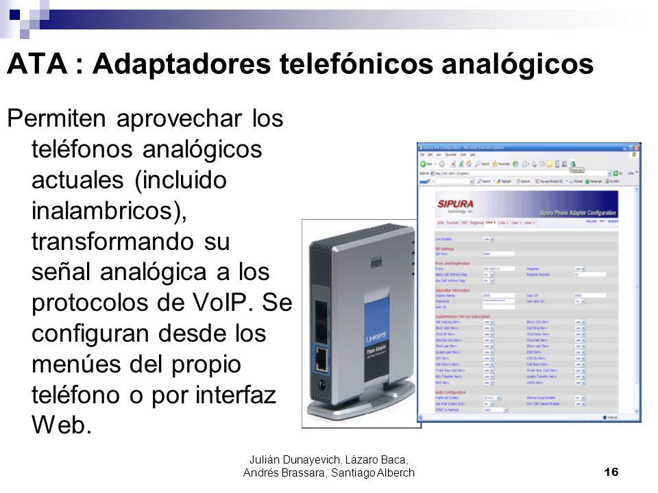 ATA : Adaptadores telefónicos analógicos