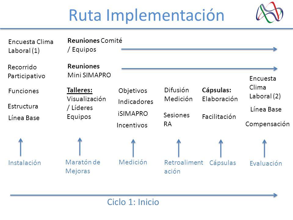 Ruta Implementación Ciclo 1: Inicio Encuesta Clima Laboral (1)