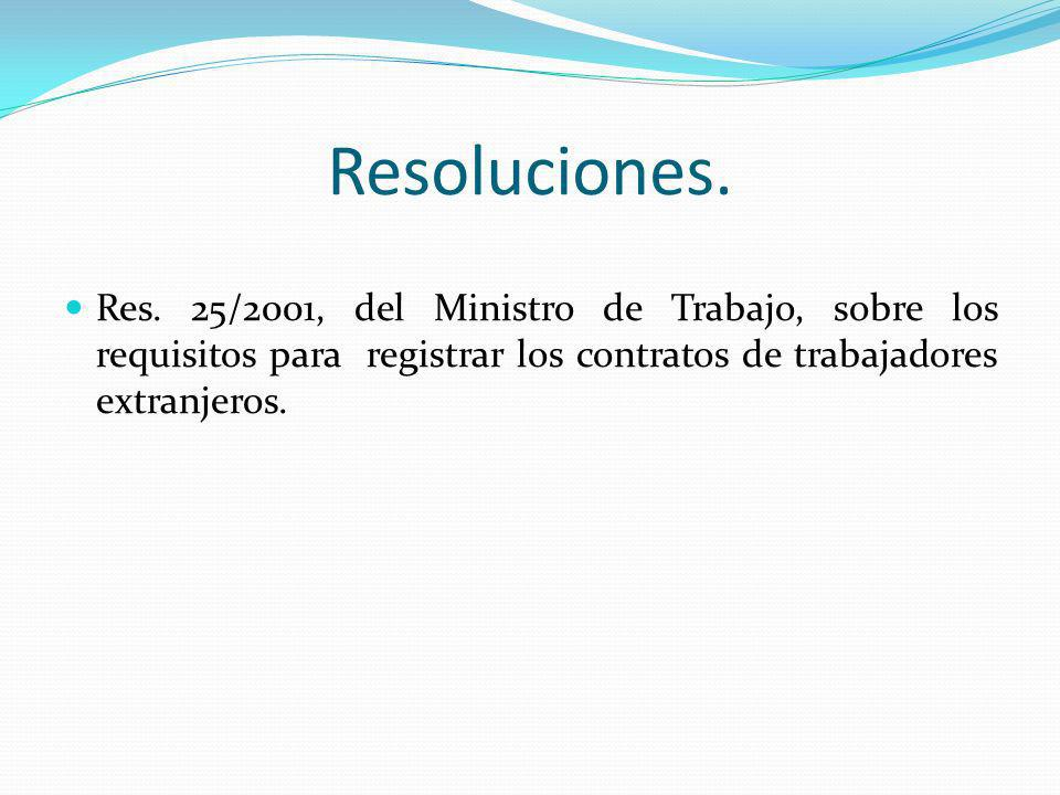 Resoluciones. Res.