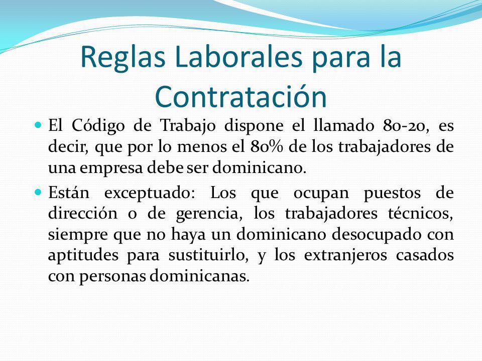 Reglas Laborales para la Contratación
