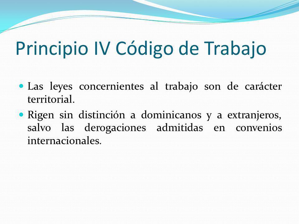 Principio IV Código de Trabajo