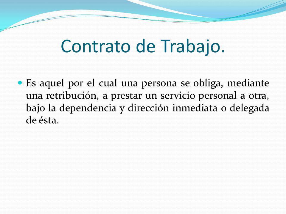 Contrato de Trabajo.