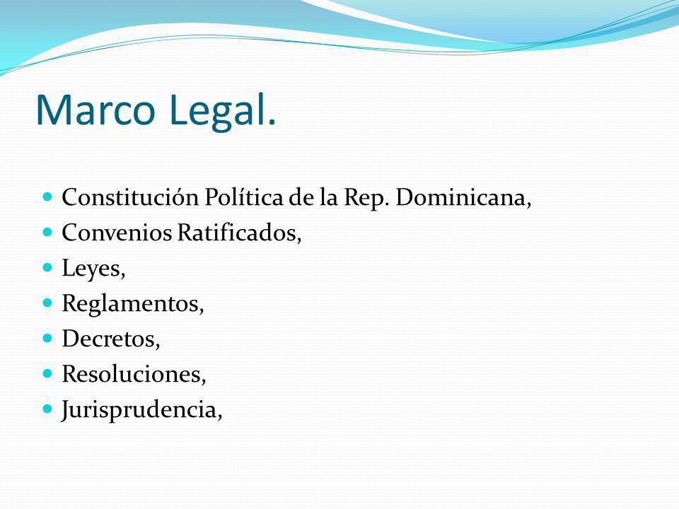 Marco Legal. Constitución Política de la Rep. Dominicana,