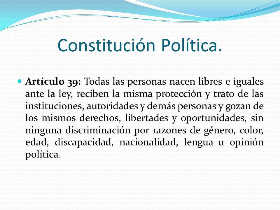 Constitución Política.