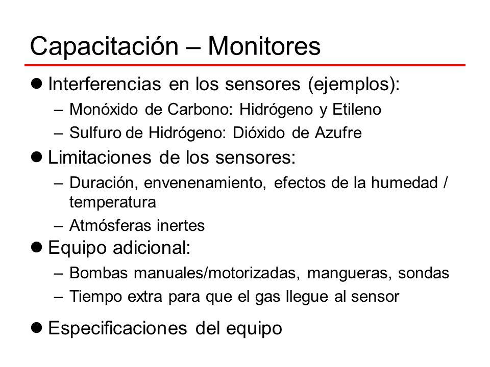 Capacitación – Monitores