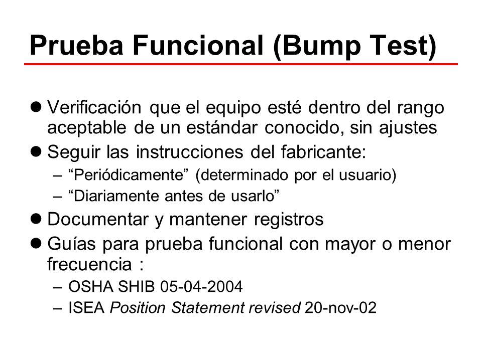 Prueba Funcional (Bump Test)