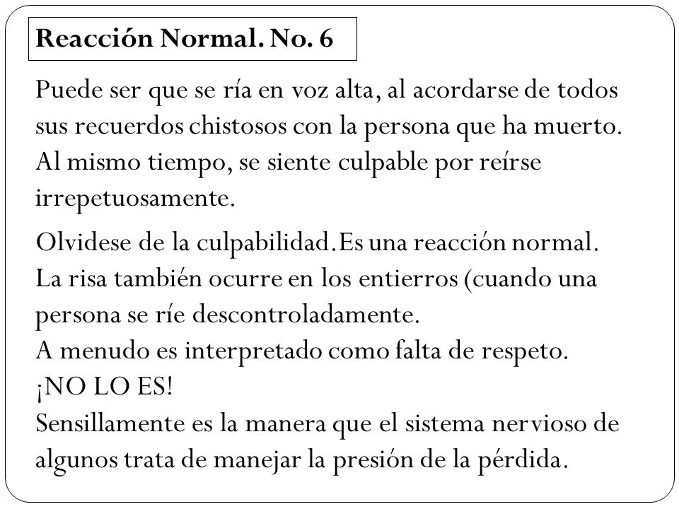 Reacción Normal. No. 6
