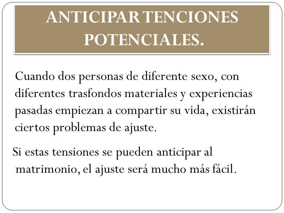 ANTICIPAR TENCIONES POTENCIALES.